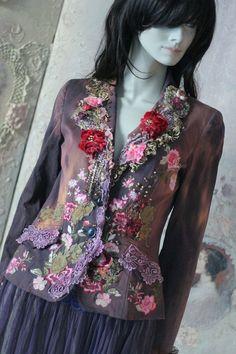 Coquette  jacket  ornate festive jacket bohemian romantic