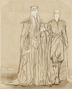 #Thranduil and #Legolas #thehobbit