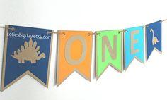 Dinosaur High Chair Banner-1st birthday banner-Dinosaur banner-Dinosaur birthday-Dino decor-dinosaur party-one banner-dinosaur party decor