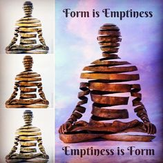 """Appearance/Emptiness, bronze sculpture by Sukhi Barber, Heart Sutra, """"form is emptiness, emptiness is form"""", compilation by Vebee14, spiral yoga meditator, space meditation, Buddhist art, visionary Buddhism, contemporary art Orion Tattoo, I Tattoo, Psychedelic Tattoos, Heart Sutra, Buddhist Art, Future Tattoos, Bronze Sculpture, Buddhism, Contemporary Art"""