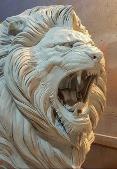 il ruggito del leone Wood Carving Designs, Wood Carving Art, Modern Sculpture, Sculpture Clay, Lion Art, Animal Projects, Wooden Art, Animal Sculptures, Wildlife Art