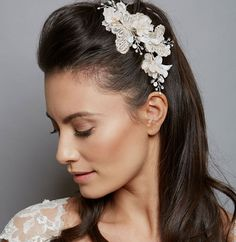 Gold Ivory Erfly Comb By Amanda Wyatt Exquisite Bridal Hair With Pale Detail Teamed Blush Pink Flowers