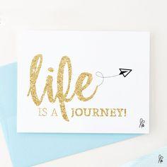 """Grüße - Karte """"life is a journey"""" / Printable A6 - ein Designerstück von sppiy bei DaWanda"""