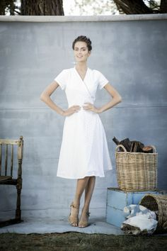 Eyelet Russel Wrap Dress | Aussie Afternoon Collection by Shabby Apple