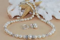 Bridal Jewelry Pearl Set Sterling Silver by ornatetreasures, $99.00
