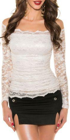Camisa de moda elegante crema