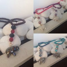 Elephants in style!!!! Stoned necklace
