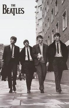 A great poster of The Beatles walking down the street without being mobbed by a crowd of screaming girls! Fully licensed - 2013. Ships fast. 22x34 inches. Check out the rest of our FABulous selection
