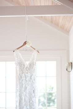 lovely lace #gown | Westport Casual Elegant Wedding from Lens Cap Productions  Read more - http://www.stylemepretty.com/massachusetts-weddings/2013/11/05/westport-casual-elegant-wedding-from-lens-cap-productions/