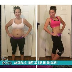 Want to talk about inspiring!? THIS right here! I have #PIYO on my workout schedule today too! Check out Andreas transformation! She lost 32 lbs in 90 days committing to this kick ass program! Here's what Andrea has to say 'My body has changed shape! I have lost inches around my hips thighs and waist. I have energy and I'm able to keep up with my three very active boys! I also have a flat belly again!'