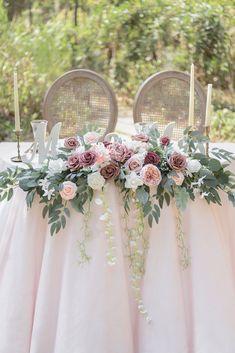 Large Flower Arrangements, Wedding Arrangements, Wedding Table Centerpieces, Floral Arrangement, Pink Flower Centerpieces, Head Table Wedding Decorations, Inexpensive Wedding Centerpieces, Blush Centerpiece, Head Table Decor