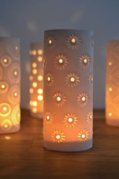 Porcelain Candle Covers by Meryl Till - Radiance