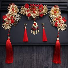 Wedding Chinese Bride Costume Crown Headdress Wedding Bride Hair Dress Tulips Headdress SetAQ2177-in Hair Jewelry from Jewelry & Accessories on Aliexpress.com | Alibaba Group