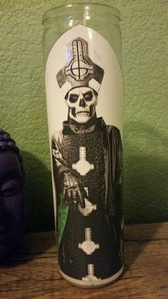 Ghost Prayer Candle - Papa Emeritus III Prayer by DomRockstar