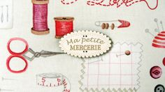 Ma Petite Mercerie sewing box in cream and red