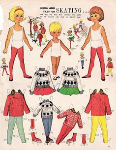 Ice Skating Paper Dolls