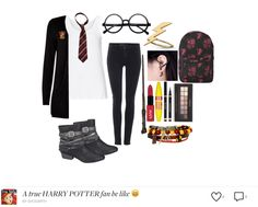 Harry Potter is Bæ Bae, Harry Potter, Maybelline, Yves Saint Laurent, My Design, Polyvore, Forever 21