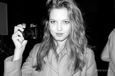 Lindsey Wixson taking pictures at Acme.