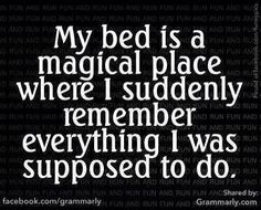 SUPPOSED TO - bed is a magical place