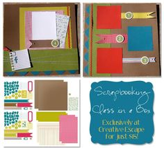 This Simply Scrappin' Layout Kit (For the Record #126900) is great for kiddos in addition to any time you need a nice, bright, design! You aren't locked into the layout pictured in the catalog -- shown here is an alternative layout!