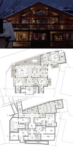 Harisch Suite buy luxury apartment in Kitzbühel, Tyrol Architecture Blueprints, Modern Architecture Design, House Blueprints, Modern Floor Plans, Modern House Plans, Lake House Plans, Dream House Plans, Mansion Designs, Villa Plan