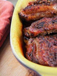 Żeberka pieczone z ziołami Polish Recipes, Food To Make, Steak, Grilling, Bbq, Pork, Food And Drink, Meals, Cooking