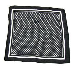Foulard en soie noir carré mini 50 x 50 cm Palme - Foulard/Foulard soie carré - Mes Echarpes