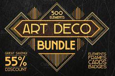 Art Deco Bundle 500 elements by FineScrap on Creative Market