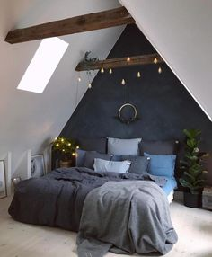 Dumbfounding Ideas: Home Decor Bedroom Bathroom classic home decor ideas.Home Decor Apartment Thoughts home decor bedroom bathroom.Home Decor Elegant Bathroom. Attic Bedroom Designs, Attic Bedrooms, Home Decor Bedroom, Bedroom Ideas, Master Bedroom, Bedroom Rustic, Bedroom Simple, Bedroom Plants, Bedroom Vintage