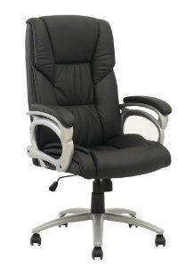 high back black computer desk leather ergonomic office executive