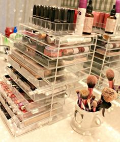 Makeup Organization -                                                      CLICK TO SEE MORE Beauty Room Designs On Our BLOG for #makeup organization and #beautyroom décor.