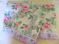 Guest Decorative Hand,Tea Towels Victorian Style.Set of 3. $12.50, via Etsy.