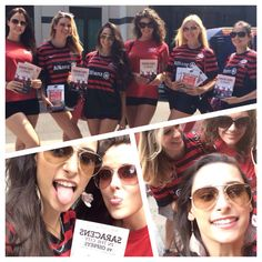 The girls were out & about on thurs promoting @Saracens in the City at HAC & will be also again on 7th & 14th August
