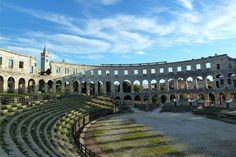 The Roman Amphitheater in Pula. People of Pula call it Arena. Pula, Oh The Places You'll Go, Places To Travel, Places To Visit, Beautiful Castles, Beautiful Places, Istria Croatia, Ancient Buildings, Croatia Travel