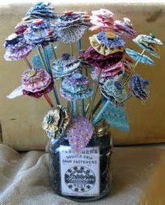 fabric yoyo ideas - Flower in Mason Jar Vase
