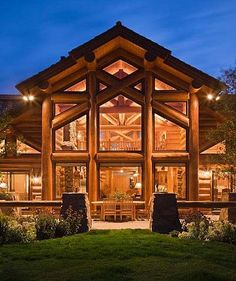 always looking to recreate with color and decor, the warmth of a log home.