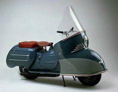 Scooter Maicomobil MB 200, 9 PS, 1954. Made by Maico, Pfäffingen, Germany. ©TECHNOSEUM - Landesmuseum für Technik und Arbeit Mannheim