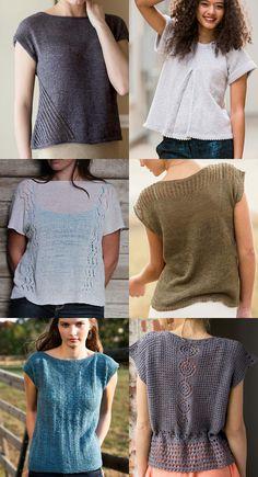 Best summer tee knitting patterns