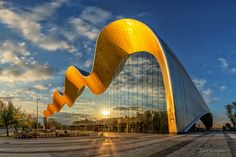 gymnastics palace in Moscow Minimalist Architecture, Organic Architecture, Futuristic Architecture, Beautiful Architecture, Art And Architecture, Pavilion Architecture, Residential Architecture, Contemporary Architecture, Unusual Buildings