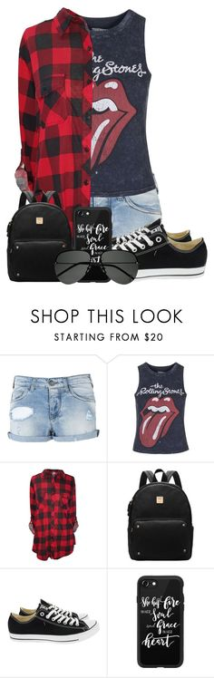 """""""Untitled #187"""" by maddie-much ❤ liked on Polyvore featuring Armani Jeans, Topshop, Converse, Casetify and Yves Saint Laurent"""