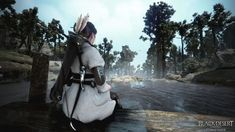 Orwen at Atanis Pond - An Unexpected Reunion — Black Desert Online SEA Philippines: Stories – Black Sun Black Desert Online, Up To The Sky, Still In Love, His Eyes, Looking Up, Philippines, Pond, Deserts, Scenery