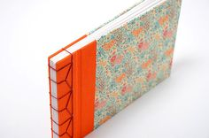 Japanese Stab Binding Book Hardcover blank by MIRABETnotebooks