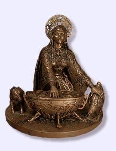 Cerridwen Celtic Goddess statue Maxine Miller-Sacred Source
