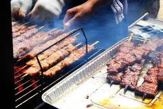 bbq on a stick.... pork, chicken, beef.... it doesn't matter... its all good!