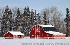 can't you just see Christmas on this farm