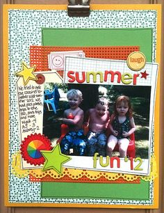 Summer Scrapbook Layouts | Summer fun '12 - Scrapbook.com