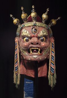 """Mask of Begtse"" Mongolian artist (early 20th century)"