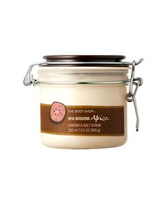 17 Best Body Scrubs - No. 5: The Body Shop Spa Wisdom Africa Ximenia Salt Scrub, $28