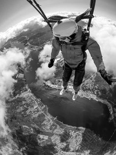 That's so wonderful! - Black and white from up high with a GoPro!