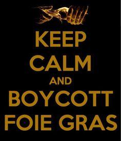Boycott foie gras !